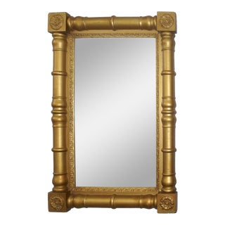 Gold Federal Mirror Neoclassical Antique American For Sale