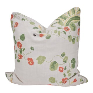 "Lake August ""Agave Americana"" 23"" Square Hand Blocked Linen Pillow For Sale"