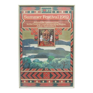 Original 1982 Poster for the New York Summer Festival by Milton Glaser For Sale