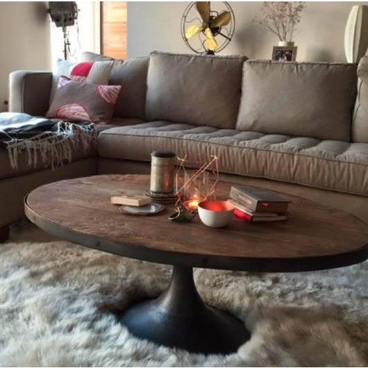 Restoration Hardware Aero Oval Coffee Table - Image 4 of 6