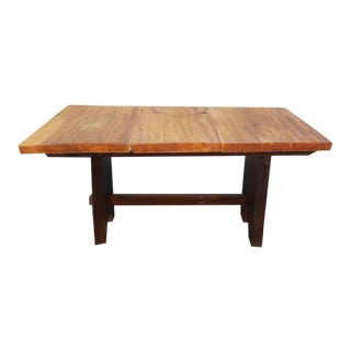 Rustic Mission Wood Slab Dining Table Desk