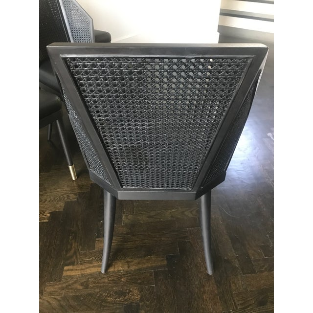 Contemporary Baker by Kara Mann Black Cane Dining / Side Chairs - Set of 6 For Sale - Image 3 of 7