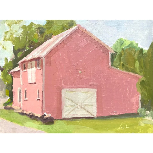 Pink Barn Upstate - Original Oil Painting by Caitlin Winner - Image 4 of 4