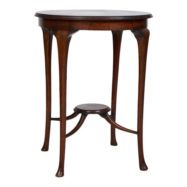English Art Nouveau Round Tea Table of Mahogany For Sale