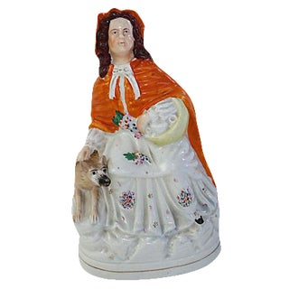 Antique Staffordshire Red Riding Hood