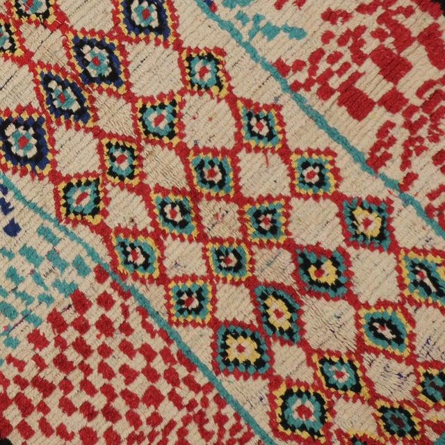 Vintage Moroccan Berber Tribal Motif Rug - 4′4″ × 8′6″ - Image 5 of 7