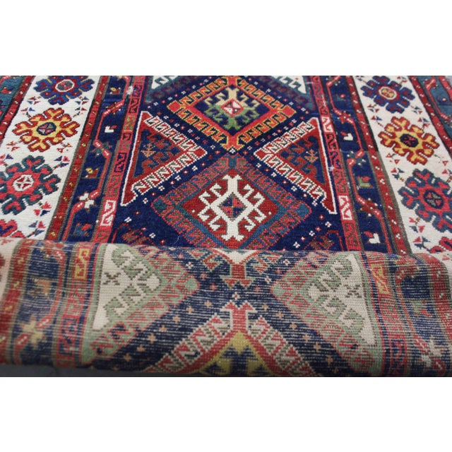 Textile Late 19th Century Antique Hand-Knotted Talish Kazak Rug - 3′4″ × 8′4″ For Sale - Image 7 of 12