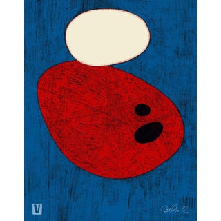 Round Red One, Giclee Print For Sale