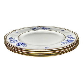 Late 20th Century Ashbury Wedgwood Bone China Dinner Plates Made in England - Set of 4 For Sale