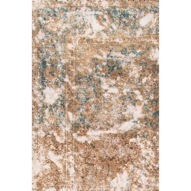 Vintage Wool Tabriz Rug For Sale - Image 4 of 6