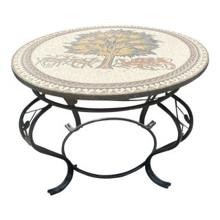 Tree of Life Jordanian Mosaic Table For Sale