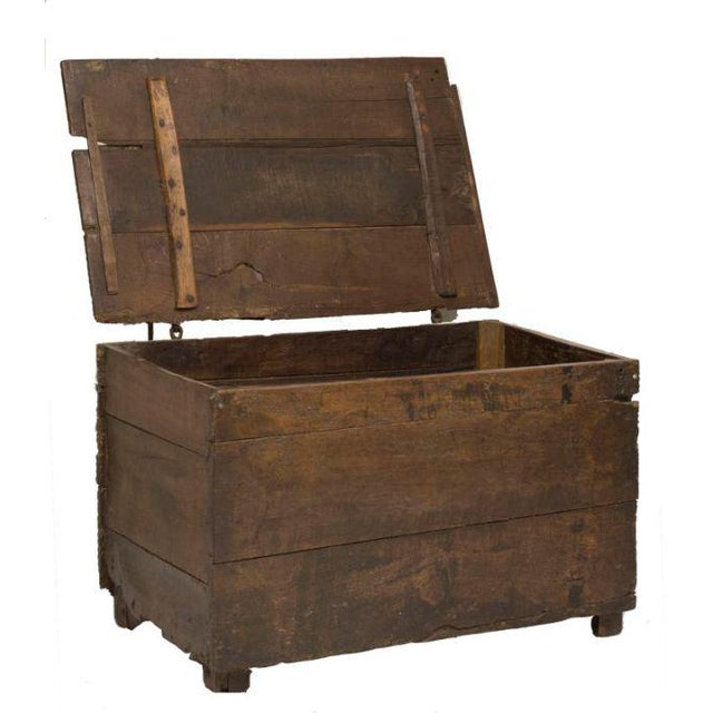 This is a great rustic oak coffer or trunk made in Northern Europe during the 18th century.