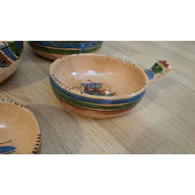 20th Century Mexican Tlaquepaque Nesting Chili Bowls - Set of 4 For Sale - Image 4 of 9