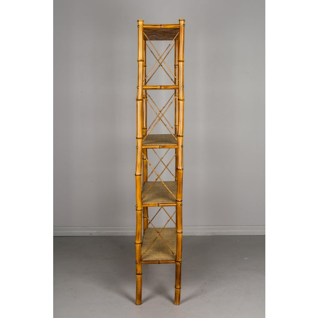 Mid 20th Century Mid-Century French Bamboo & Rattan Etagere For Sale - Image 5 of 11