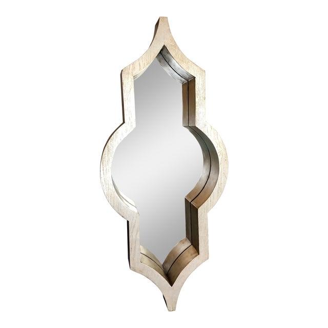 Contemporary Mercana Silver Geometric Mirror For Sale