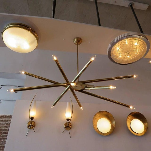 Raw Brass & Spiral Chandelier For Sale - Image 11 of 11