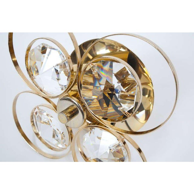 Gilded Brass Crystal Glass Bakalowits Sconces, Austria 1960 For Sale - Image 6 of 9