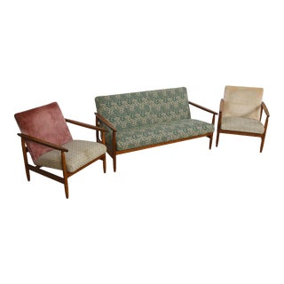Eyvind Johansson for Fdb J65 Danish Set with Loveseat & Pair of Lounge Chairs For Sale