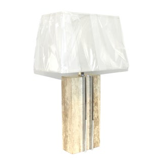 1960s Raymor Marble and Chrome Skyscraper Lamp For Sale