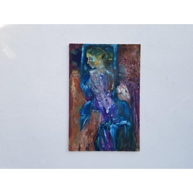 Abstract Expressionism 80's Abstract Nude Woman Painting For Sale - Image 3 of 12
