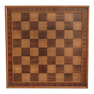Antique English Chess & Checker Game Board For Sale
