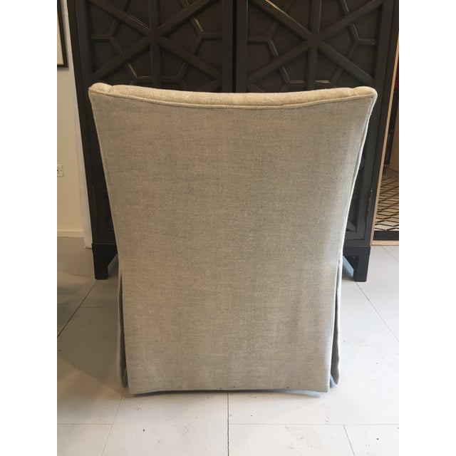 "Century Furniture Linen Skirted ""Coloney"" Chair - Image 4 of 7"