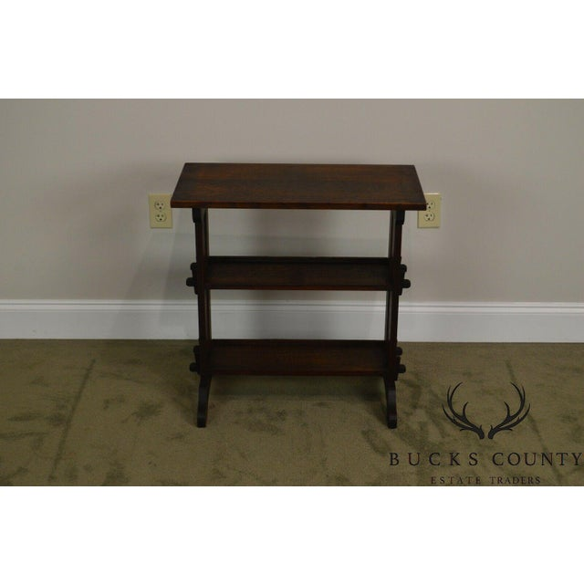Roycroft Antique Mission Oak Little Journey's Book Stand For Sale - Image 12 of 13