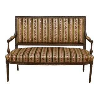 19th Century Antique Louis XVI Style Salon Settee For Sale