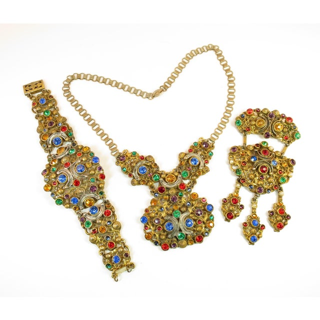 Victorian Austro-Hungarian Bejeweled Crystal Parure 1870s For Sale - Image 13 of 13