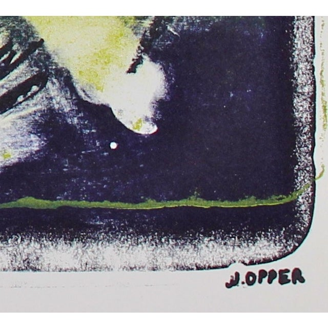 Mid-Century Abstract Lithograph by Jerry Opper - Image 2 of 3