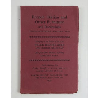 """French, Italian and Other Furniture and Decorations"" Auction Catalog Preview"