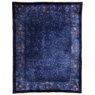 Early 20th Century Antique Chinese Area Rug - 8′10″ × 11′6″ For Sale