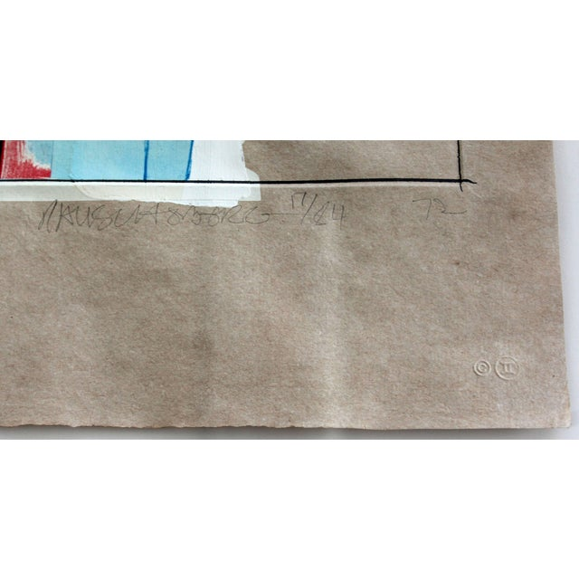 Mid-Century Modern Rauschenberg Signed Abstract Print Dated 1970s Numbered For Sale In Detroit - Image 6 of 7