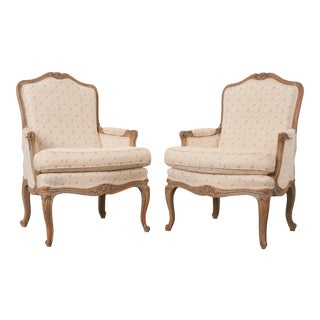 19th Century French Louis XV Bergères - a Pair For Sale
