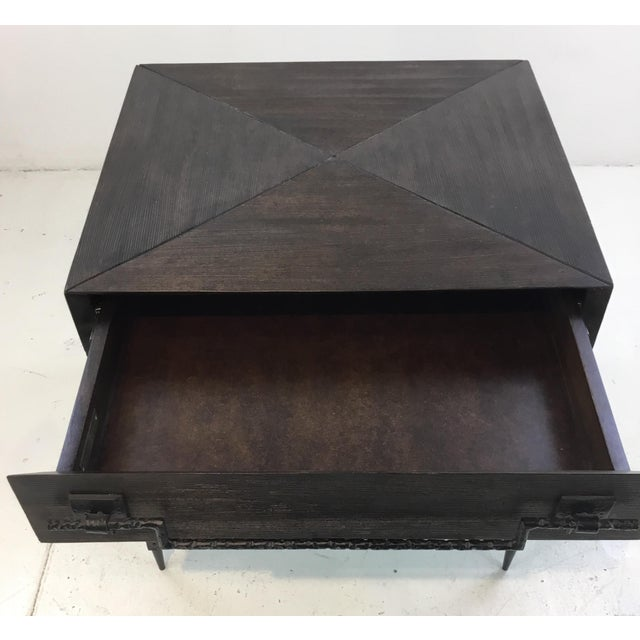 Industrial Global Views Industrial Modern Scratch End Table For Sale - Image 3 of 6