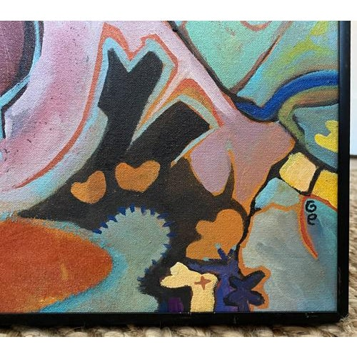 Mid-Century Modern Vintage Painting - Bring Me an Artichoke, Signed For Sale - Image 3 of 7