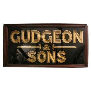 Gudgeon & Sons Framed Sign For Sale