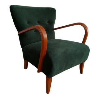 1950s Vintage Danish Design Art Deco Armchair For Sale