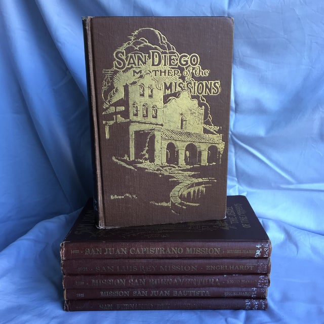 1921- 1931 California Missions Book Collection - Set of 6 For Sale - Image 4 of 13