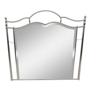 Jansen Style Stainless Steel Mirror For Sale