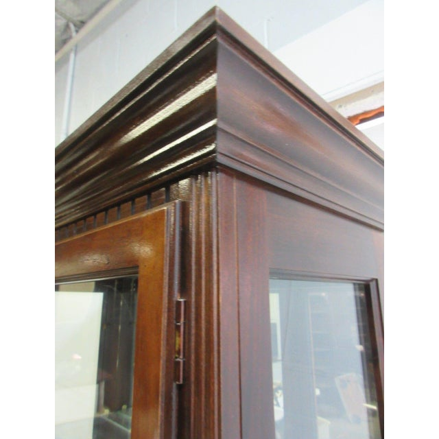 Mahogany Vintage Pulaski Mahogany China Cabinet For Sale - Image 7 of 11