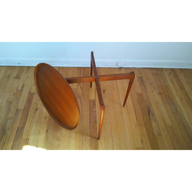 Fritz Hansen Fritz Hansen Teak Tray Table For Sale - Image 4 of 11