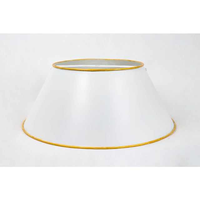 Vintage White Tole Lampshade For Sale In New York - Image 6 of 6