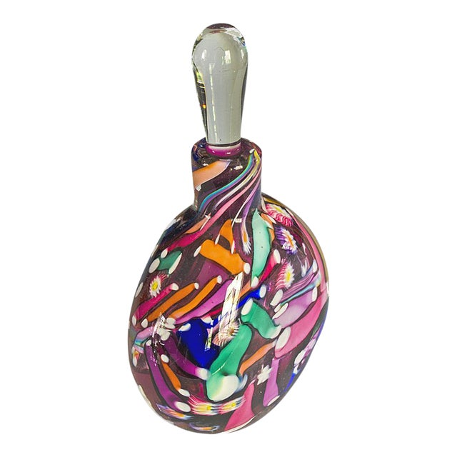 Hand Blown Signed Art Glass Perfume Bottle - Image 1 of 6