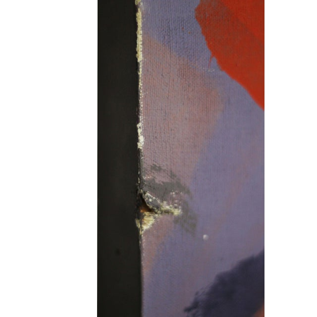Large Abstract Painting Signed Thomas '82 For Sale - Image 6 of 9