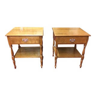 Vintage Ethan Allen Maple Nightstands - a Pair For Sale