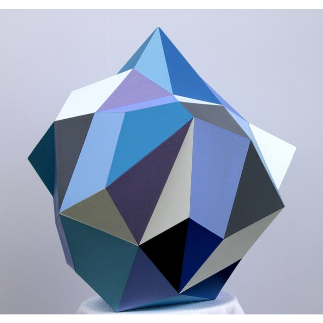 Sky Blue 21st Century Blue Diamond Sculpture by Sassoon Kosian For Sale - Image 8 of 9