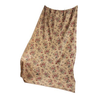 Antique 1850 - 1880 French Indienne Printed Cotton Mulhouse Curtain For Sale