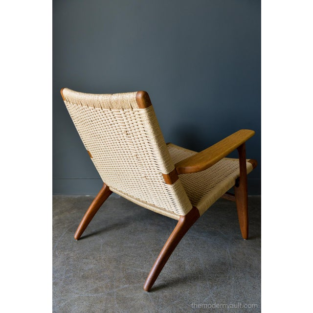 Wood 1950s Vintage Hans Wegner for Carl Hansen & Son Ch 25 Lounge Chair For Sale - Image 7 of 12