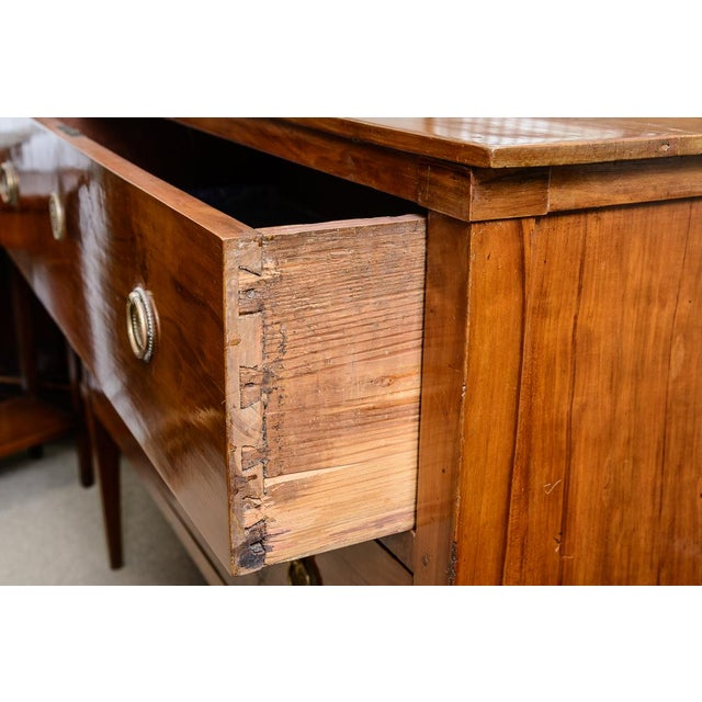 Italian Italian Cherrywood Two Drawer Commode For Sale - Image 3 of 9